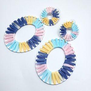 NWOT Anthro BaubleBar Color Rattan Drop Earrings